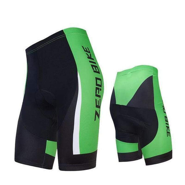 Zerobike Zrobmb Men's 4 D Gel Padded Cycling Shorts-TRIATHLON SHORTS-TRIATHLON-GREEN-L-Helm Zone