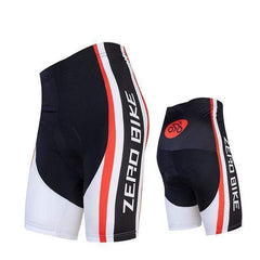 Zerobike Zrobmb Men's 4 D Gel Padded Cycling Shorts-TRIATHLON SHORTS-TRIATHLON-RED WHITE-L-Helm Zone