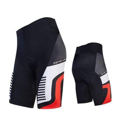 Zerobike Zrobmb Men's 4 D Gel Padded Cycling Shorts-TRIATHLON SHORTS-TRIATHLON-WHITE RED-L-Helm Zone