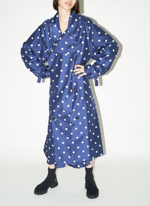 Beckette Trench, Blue/White