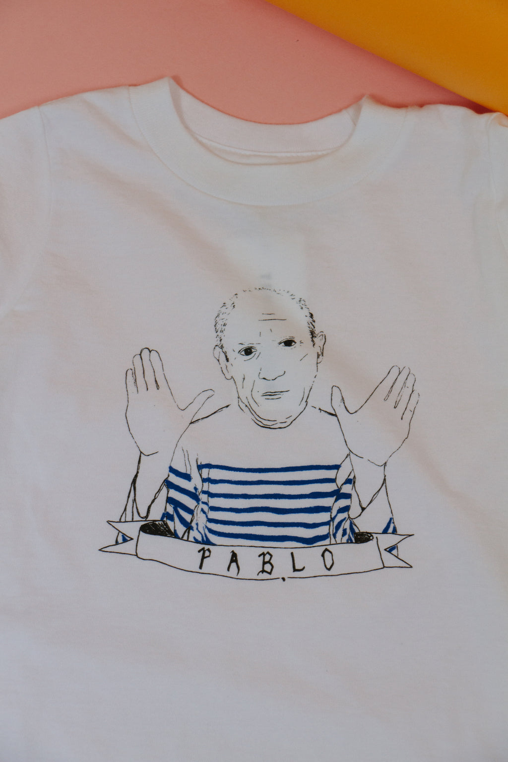 Pablo Picasso Baby Tee, White