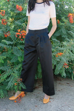 Wide Leg Trouser, Midnight