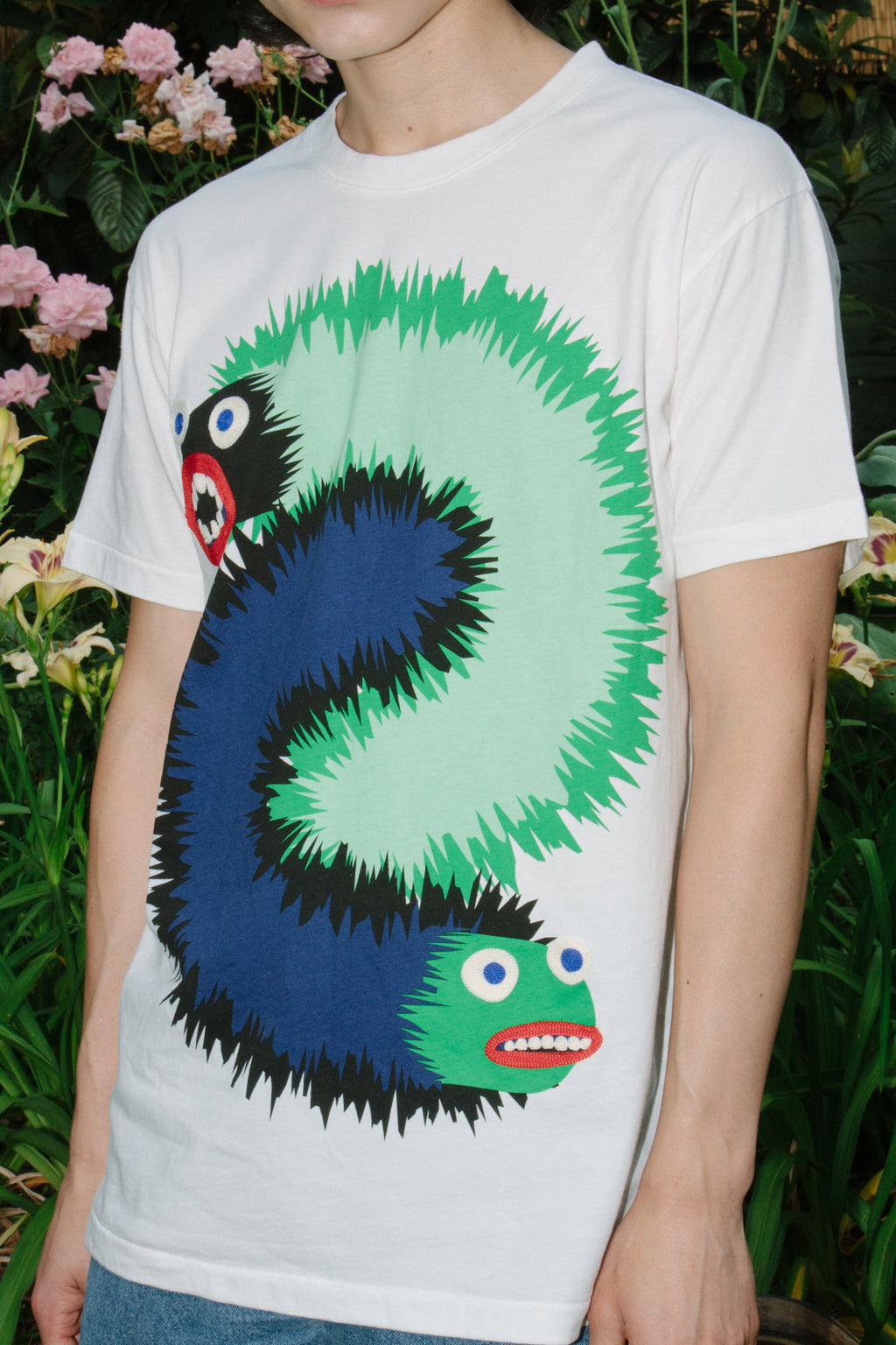 Wing Wang Monster Tee, White