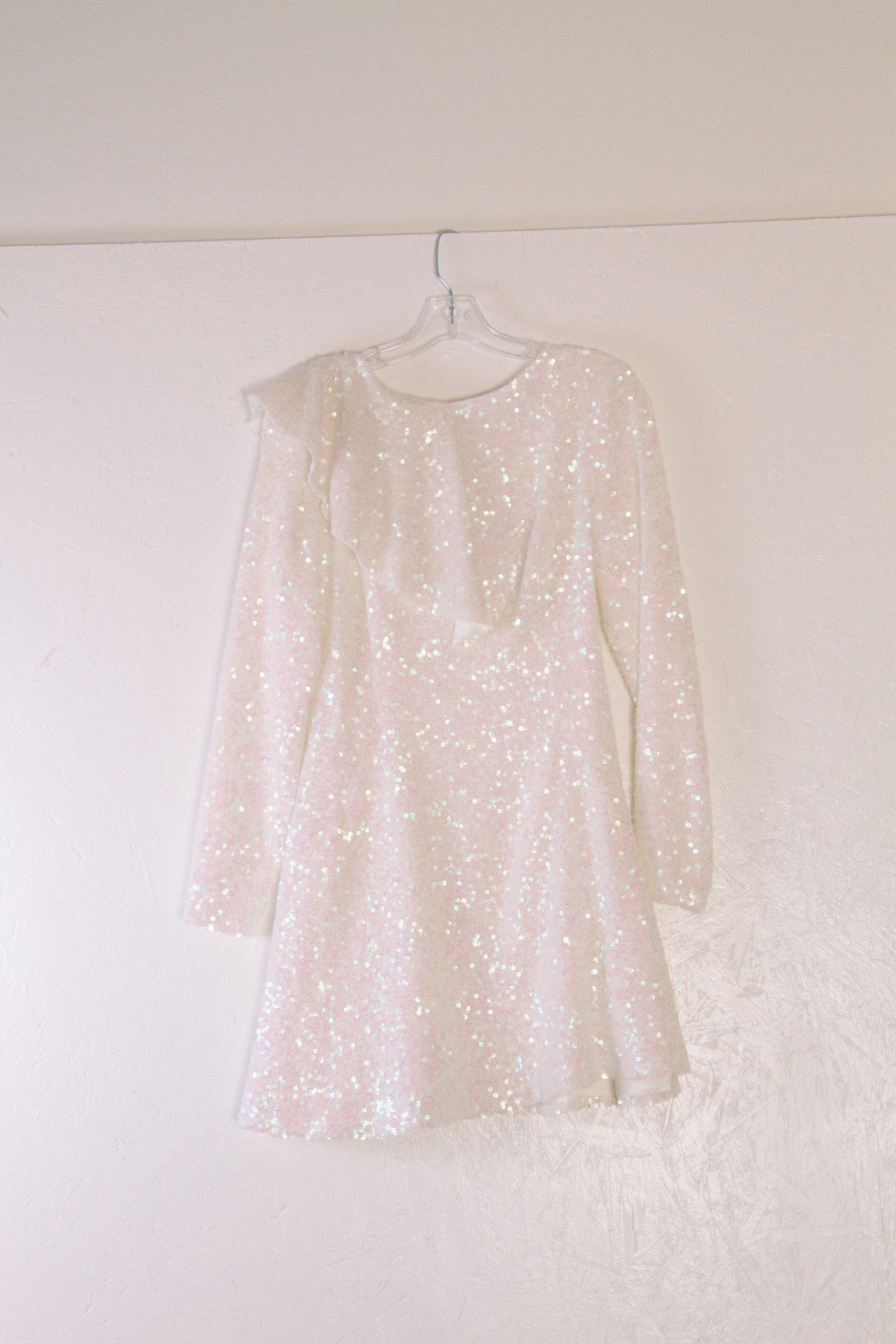 Sequin Dress, White