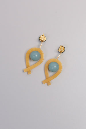 Loma Earrings, Blue/Yellow