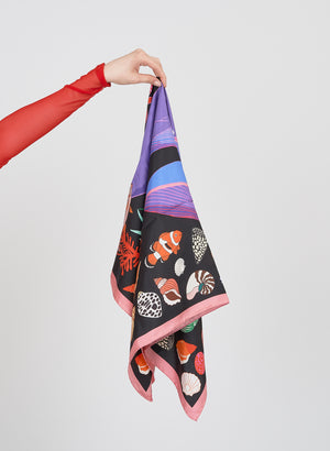 The Squid and The Whale Scarf, Black