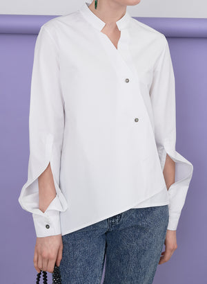 Unbalanced Shirt, White
