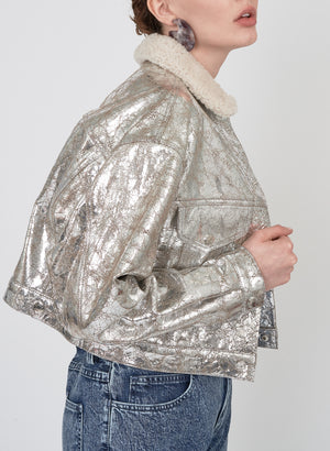 Leather Jacket, Silver
