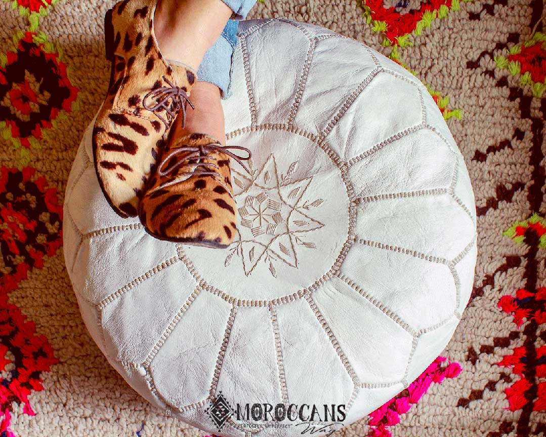 HOW IS MOROCCAN POUF MADE ?