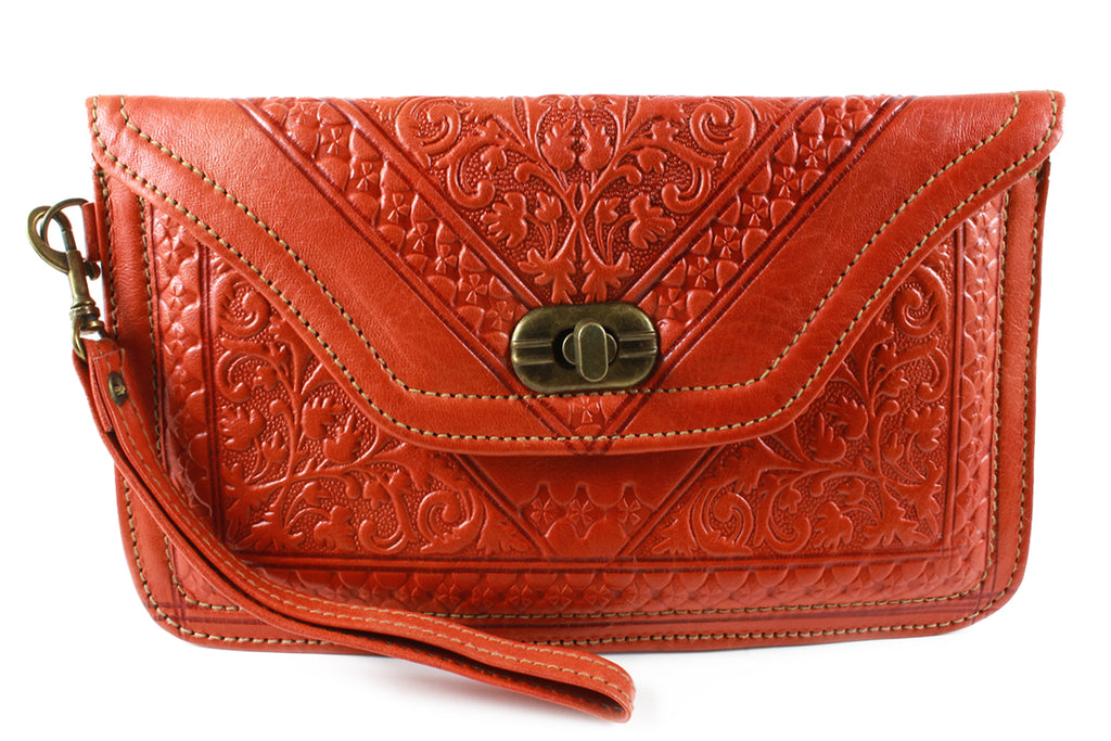 TANGERINE-WRISTLET-Handmade-Moroccan-Leather-MOROCCANSWAY