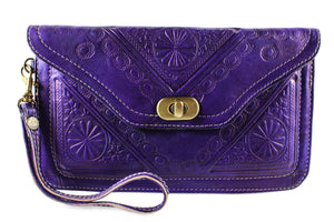 PURPLE-WRISTLET-Handmade-Moroccan-Leather-MOROCCANSWAY