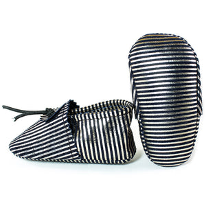 Pinstripe baby Moccasins