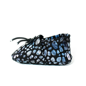 Iridescent Bubble Baby Moccasins