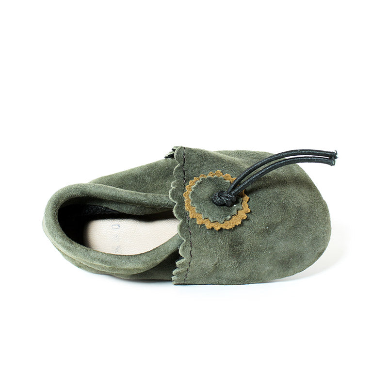 Olive Baby Moccasins