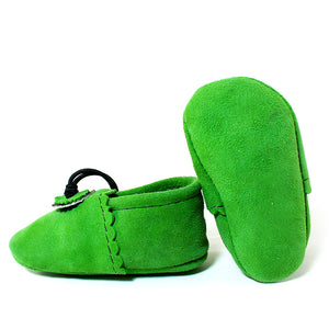Green Baby Moccasins