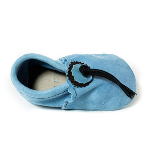 Light Blue Baby Moccasins