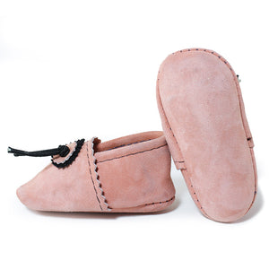 Peach Baby Moccasins