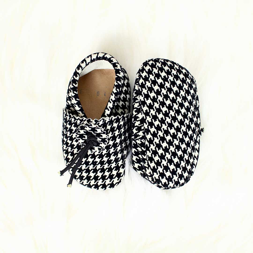 Houndstooth Baby Moccasins