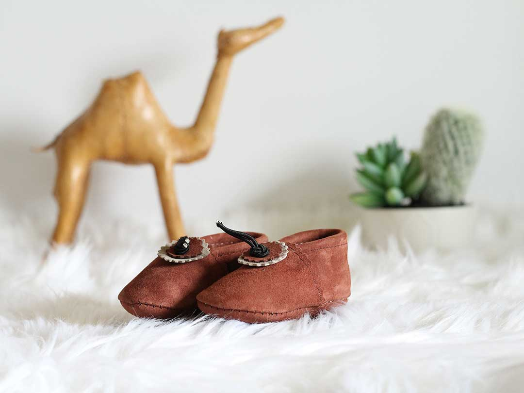 Cinnamon Baby Moccasins