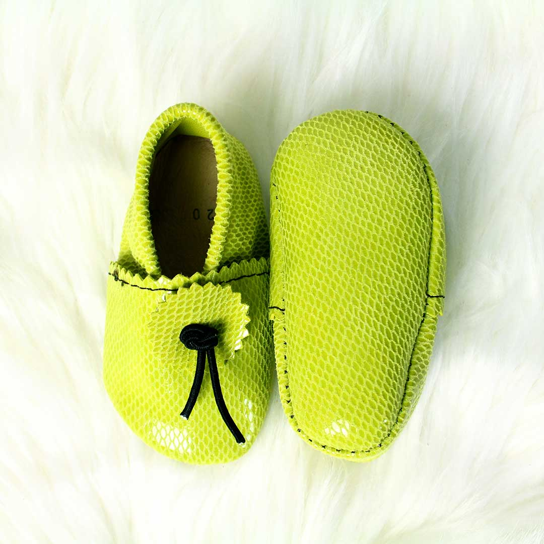 Chartreuse Baby Moccasins