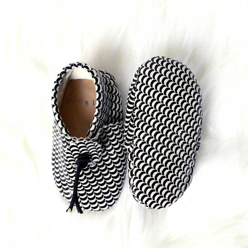 Black & White Rainbow Baby Moccasins