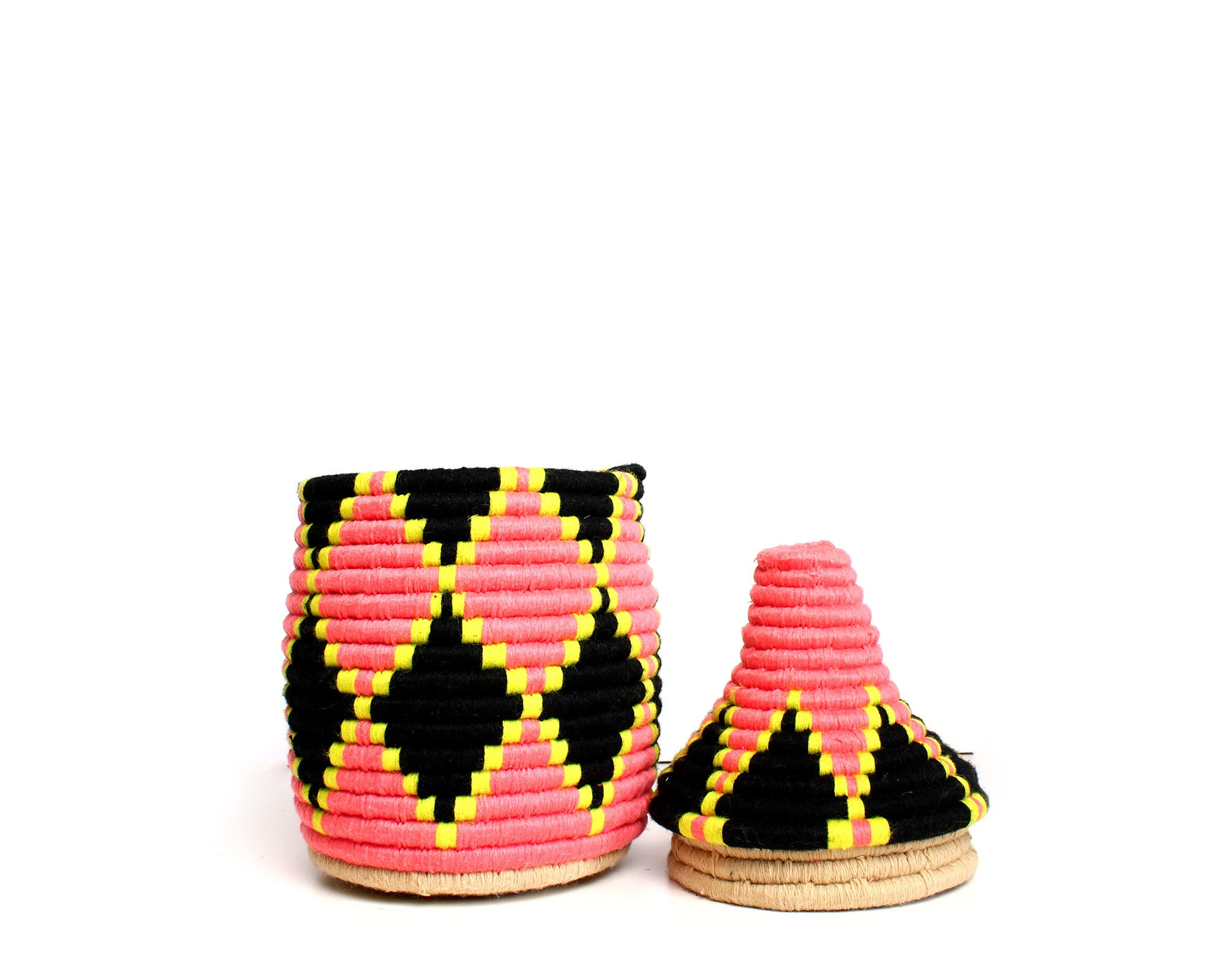black and pink Pita Berber Basket