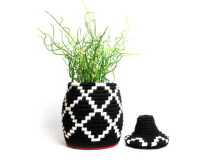 black and white Zig Berber Basket