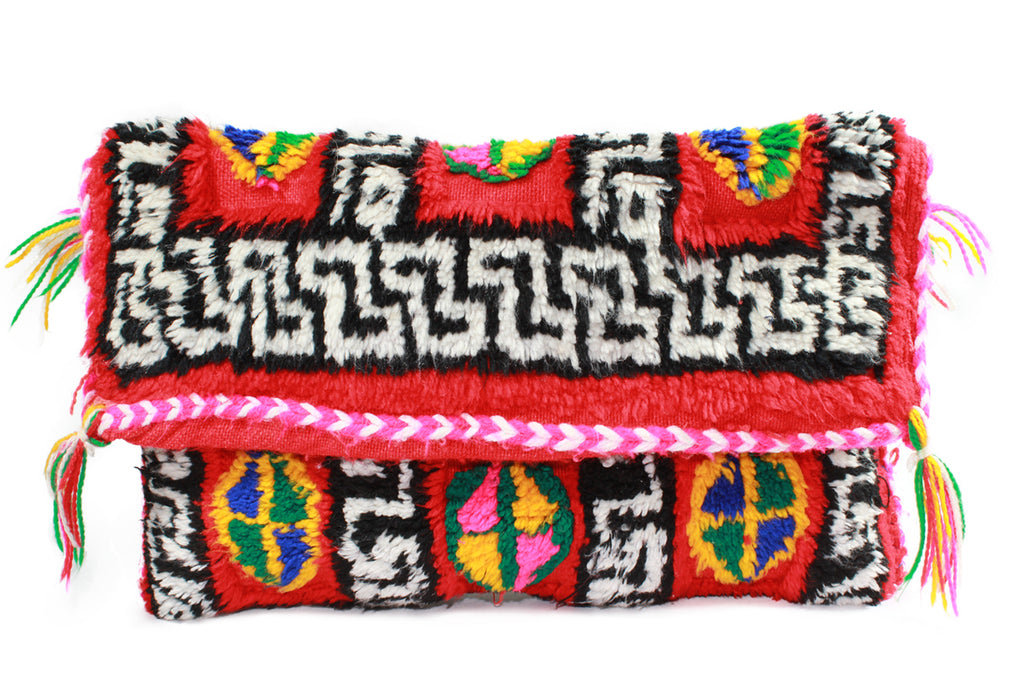 MAZE-clutch-Moroccan-handmade-wool-MoroccansWay
