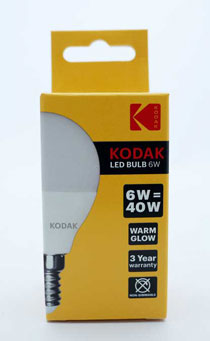 KODAK BULB LED GOLF E14 SMALL SCREW WARM GLOW