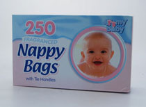 nappy bags ble poser  250 STK