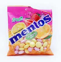 MENTOS FRUIT BAG 175 gram