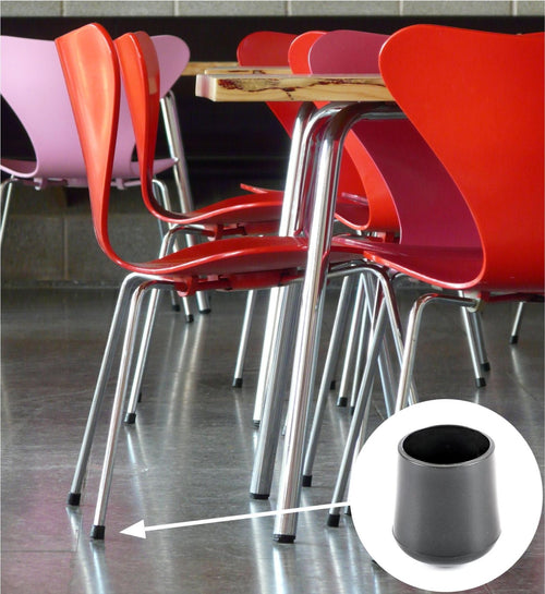 Made in Germany Available in a Range of Sizes by Keay Vital Parts Knock in Plastic Inserts with Felt Pads Furniture Gliders Floor Protectors for Metal Chair Feet and Table Legs