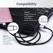 Android USB cable (6ft) Durable High Speed USB 2.0 Nylon Braided with Gold-Plated Connectors Android Charging Cable Galaxy S7/S6, Sony, Motorola and More - Space Black
