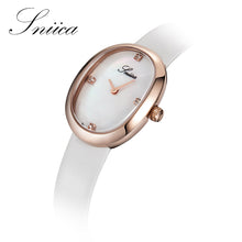 SNIICA Fashion Watch Women Waterproof Oval dial Quartz Watch Leather Watchband Diamond Ladies Watches relogio feminino SN3202