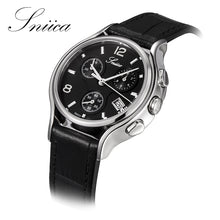 SNIICA Fashion women watches Casual black Dial Wristwatch Waterproof Leather Ladies Quartz Watch Women Relogio Feminino SN3404