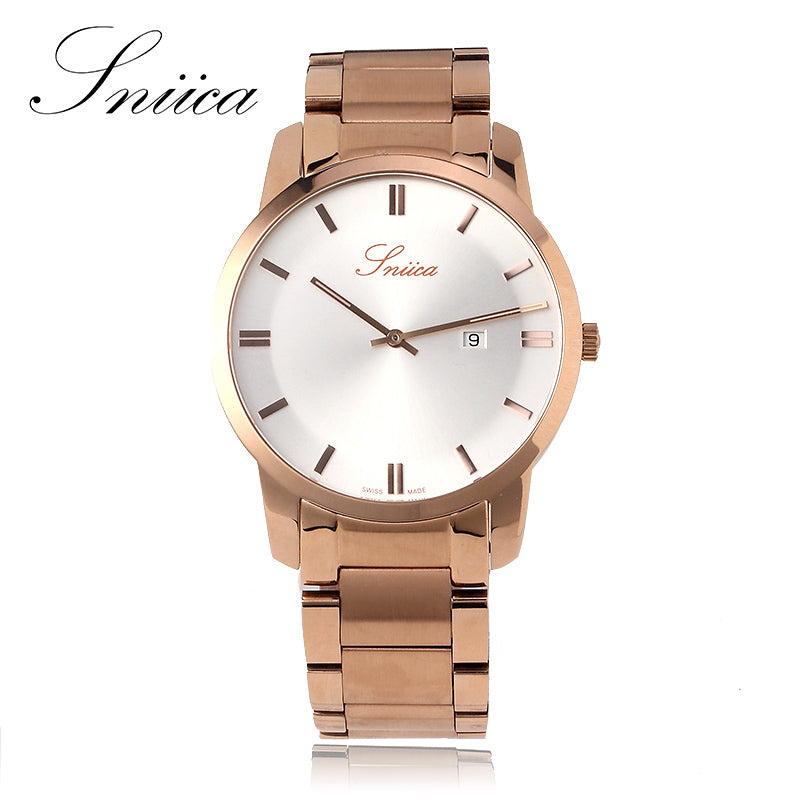 SNIICA Simple Quartz watch men Swiss movement Wristwatch full steel Watchband 30m Waterproof ladies watches reloj hombre SN2207