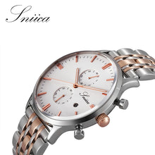 SNIICA Simple Quartz watch men Swiss movement Wristwatch steel Watchband Waterproof business watches relogio feminino SN0939