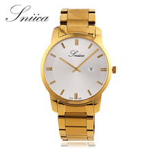 SNIICA watch men Swiss movement Wristwatch full steel Watchband 30m Waterproof gold Quartz watches clock men reloj hombre SN2205