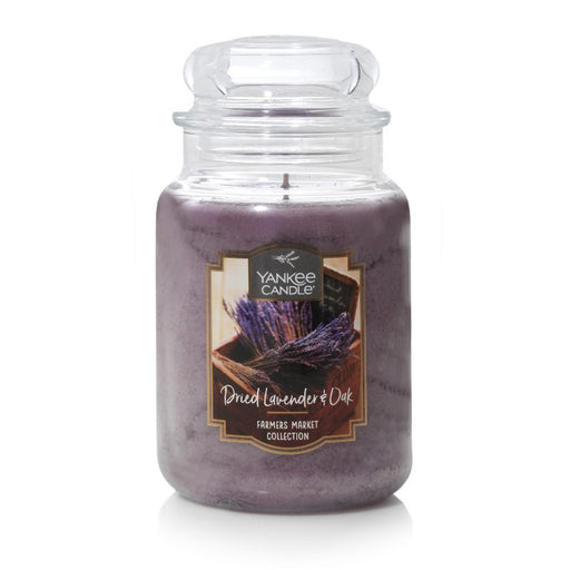Dried Lavender & Oak Large Jar Candle