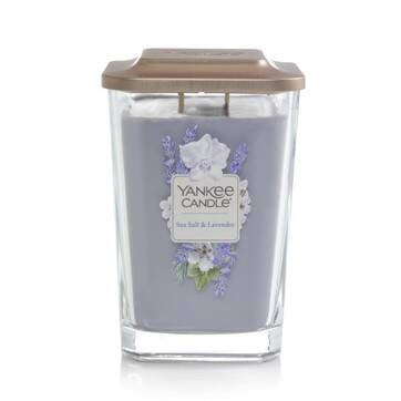 Sea Salt & Lavender Large 2-Wick Square Candle
