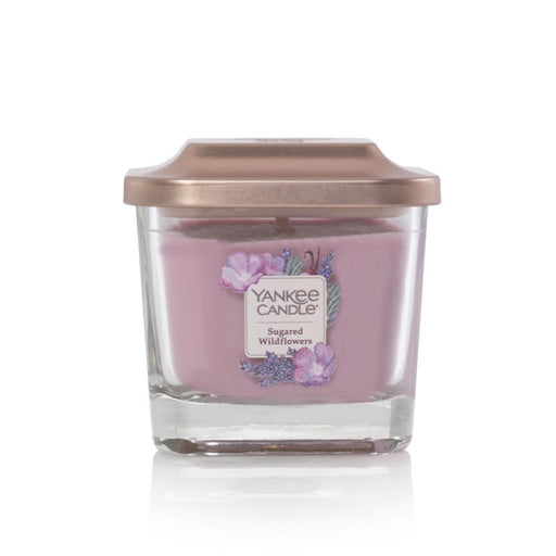 Sugared Wildflowers Small 1-Wick Square Candle