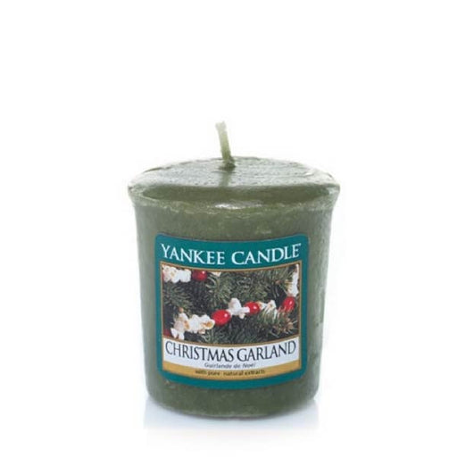 Christmas Garland Samplers Votive Candle