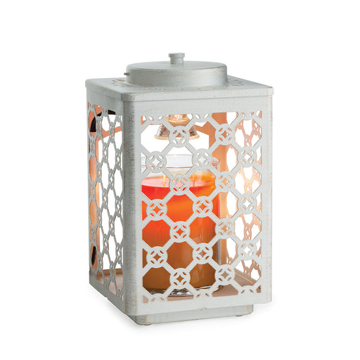 Garden Lantern Brushed Champagne Candle Warmer