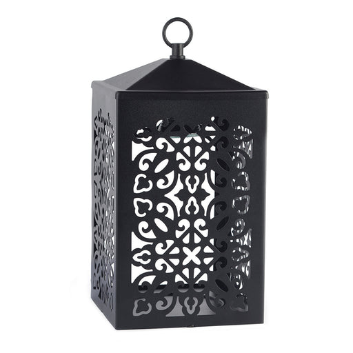Scroll Lantern Black Candle Warmer