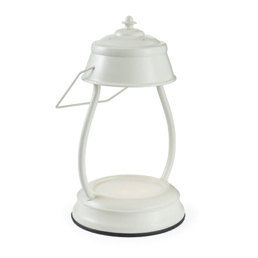 Hurricane Lantern Antique White Candle Warmer