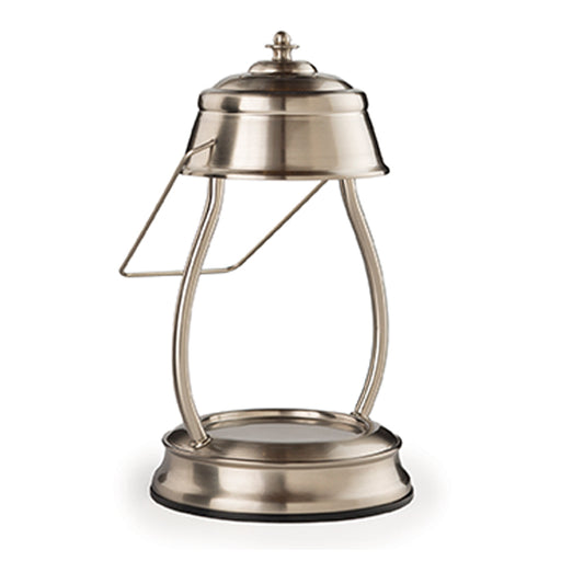 Hurricane Lantern Brushed Nickel Candle Warmer