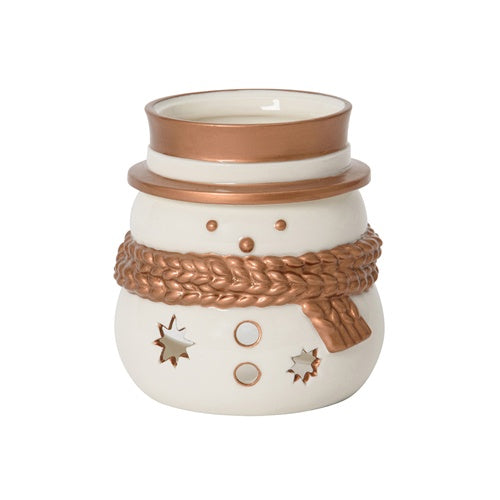 Jackson Frost Snowman Jar Candle Holder