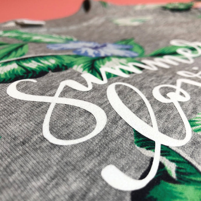Create a Custom Shirt Using Flocked HTV and a Hand-Lettered Cut File