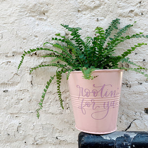 Craftey + Bossy Brushstrokes: DIY A Sweet Spring Planter Using Oracal 651 + a Free Hand-Lettered Cut File