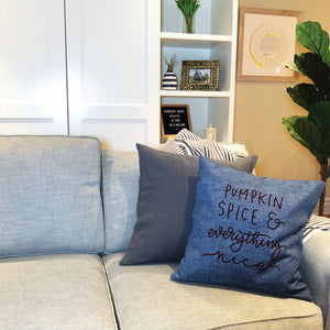 DIY A Fall Pillow Using Color Chimp Flock HTV + a FREE Hand-Lettered Cut File!